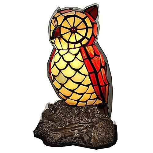 Europäischen amerikanischen Stil Glasmalerei Tischlampen Harz Basis Eule Dekoration Nachtlicht Wohnzimmer Schreibtisch Nacht Schlafzimmer Beleuchtung
