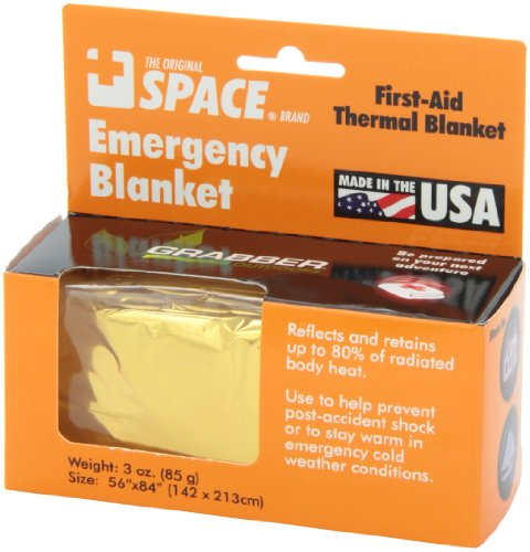 Grabber - The Original Space Brand Emergency Survival Blanket - Gold/Silver 5