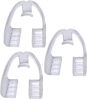 حامي الفم والأسنان من غارنيك لحماية الأسنان والأسنان أثناء النوم من أجل منع تجليخ الأسنان وحماية الأسنان من 3 قطع (شفاف)