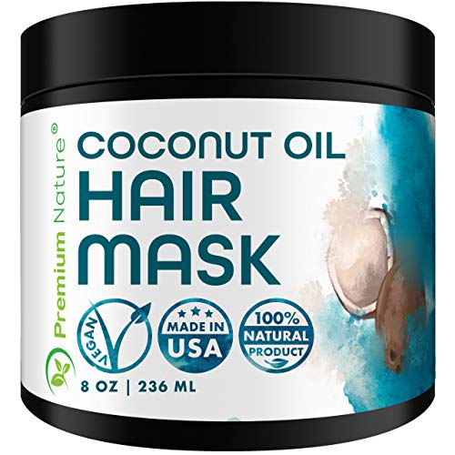 Deep Conditioning Hair Mask Treatment - 100% Natural Hair Mask Treatment For Dry Damaged Hair Deep Conditioner Hair Masks Coconut Hair Mask For Hair Growth Moisturizer Hair Care Packaging May Vary