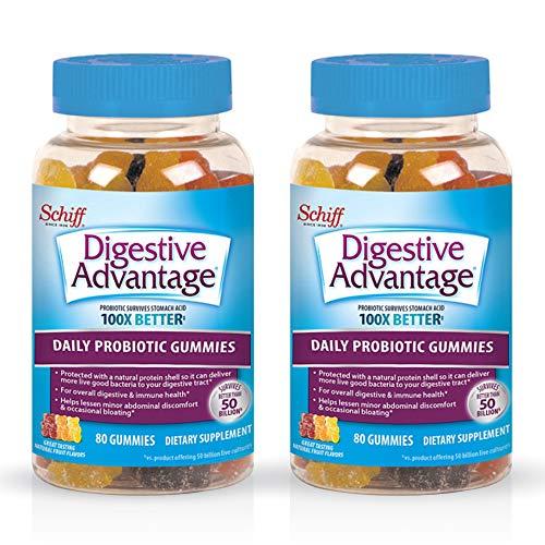 Daily Probiotic Natural Fruit Flavor Gummies, Digestive Advantage 80...