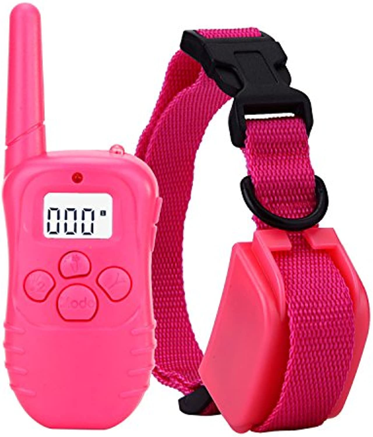 TOPCHANCES 300 Meters Waterproof Remote Training Collar with Rechargerable in Pink