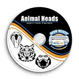 Animal Heads Clipart-Vector Clip Art-Vinyl Cutter Plotter Images-T-Shirt Design Graphics CD