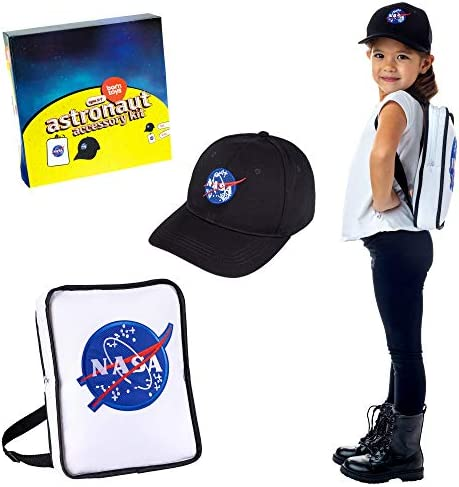 Born Toys Premium Astronaut NASA Bag and NASA hat Set for Astronaut Costume for Kids product image