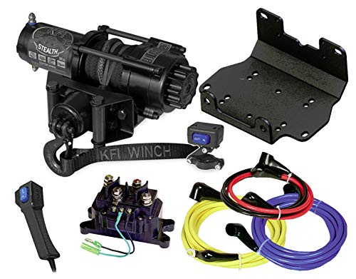 KFI SE35 3500lb Stealth Winch & 101275 Winch Mount kit Compatible/Replacement for 2016-2021 Yamaha Grizzly 700 4x4
