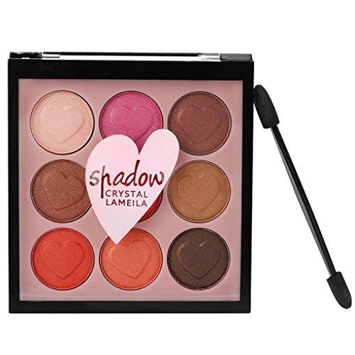 Challeng Lidschatten-Palette, Schimmern Perle Funkeln Bilden Pulver Kosmetik Matt Makeup Augenschatten Palette/9 Farben (#1)