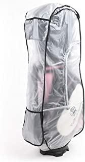 Cheng Yi Golf Bag Rain Cover,Waterproof PVC Clear Rain Cover for Golf Bag,Golf Bag Rain Protection Cover with Hood for Golf Push Carts.Anti UV,Anti-Static,All Weather Protection CYFC1374