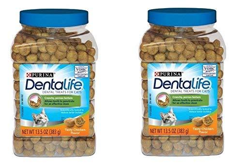 Purina DentaLife Tasty Chicken Flavor Dental Treats for Cats, 13.5 oz (13.5 oz...