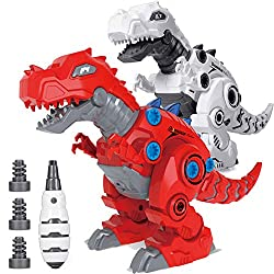 2. KELIWOW LED Take Apart Walking Robot Dinosaur Toy