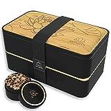 UMAMI Bento Lunch Box , 2 Recipiente 4 Cubiertos , Tupper Compartimentos Estilo...