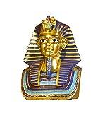 Mnjin Decoración del hogar Estatua del Rey Egipcio, Estatua del faraón Decoración egipcia de Oro Escultura de la Pared del Rey Tutankamón, 1113.516.5 cm