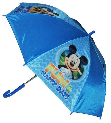 alles-meine.de GmbH Regenschirm Mickey Mouse - Automatik - Kinderschirm 66 cm lang - für Kinder Stockschirm Schirm - Jungen Mädchen Schirm Donald Maus Micky Kinderregenschirm