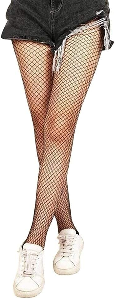 mimiliy Hollow Out Sexy Pantyhose Black Women Tights Stocking Fishnet Stockings Club Party Hosiery Calcetines Female Mesh (Color : Small mesh 1, S : One Size)