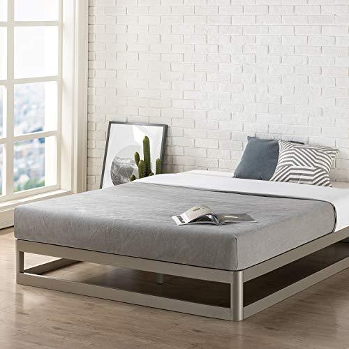 Mellow 9-Inch Metal Platform Full Bed Frame | Heavy Duty Steel Slats | Mattress Foundation (No Box Spring needed)