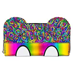 DISNEY PARKS MICKEY MOUSE RAINBOW GLITTER WALLET