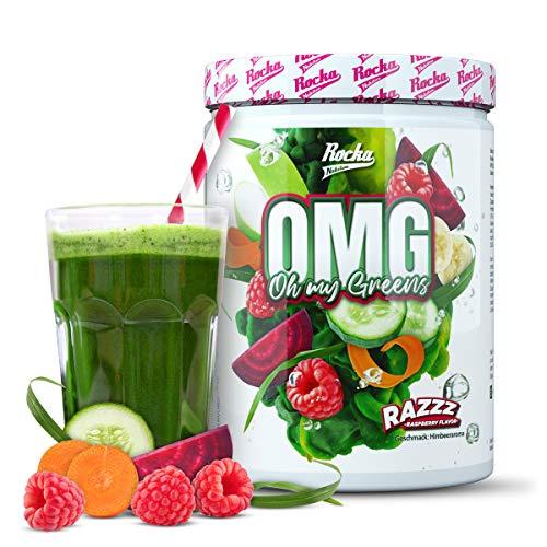 Rocka Nutrition OMG Superfood Pulver • Vitamine & Mineralien aus 720g Obst & Gemüse • Green Food Multivitamine • mit Spirulina + Chlorella