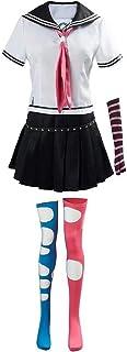 Danganronpa Cosplay Disfraz Uniforme Escolar Vestido, Mujer Anime Cosplay Disfraz Maizono Sayaka, Halloween Carnaval Cosplay Disfraz,Fiesta Temática Uniforme Traje para Mujer
