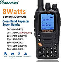 Wouxun KG-UV2Q 8W Powerfrul 7 Bands/Air Band Cross Band Repeater Classic Circuit Walkie Talkie Upgrade KG-UV9D Plus Two Way Radio