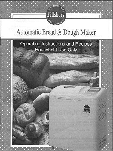 Pillsbury Bread Machine Maker Instruction Manual (Model: 1015) Reprint [Plastic Comb]