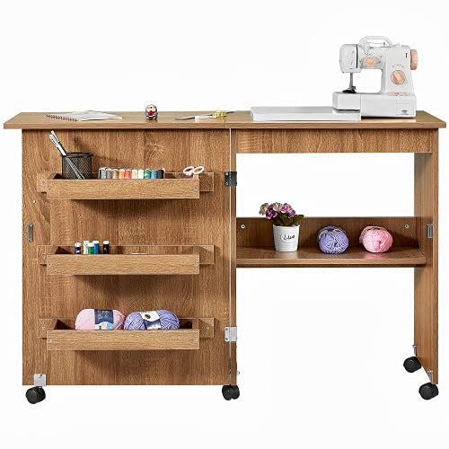 Kealive Folding Sewing Table, Multi-Functional Sewing Machine Craft...