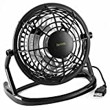 USB Mini Desk Fan, iKross Personal Silent Fan for Laptop, PC, Notebook, Power Bank, Office, Home, Bedroom with 360° Rotation/ON and OFF Switch