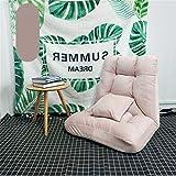 Cojín de la Silla Gaming Floor Ajustable de 14 Posiciones de Espuma de Memoria Almohada Silla Suelo-Gaming Chair-cómodo Espalda-Cojín del Dormitorio Rocker (Color : Pink, Size : 45x55x50cm)