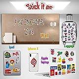 Q-Window Sticker Pack (360-tlg) Vinyl Kawaii Sticker Aufkleber für Laptop,Wasserflaschen,Gepäck,Skateboard,PS4,Xbox One,Phone,Car Erwachsene,Teenager,Jungen und Mädchen-wasserdicht - 2