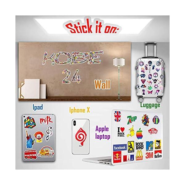 51rEOOOGyGL. SS600  - QWDDECO Sticker Pack (360 PCS) Vinilo Pegatinas para portátiles, botellas de agua, equipaje, monopatín, PS4, Xbox one…