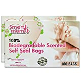 Lifekrafts Smart mom Scented, Bio-degradable and Eco Friendly Disposable Diaper Bags (White)