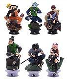 VNNY 6 unids/Set Juegos de Figuras de Anime Naruto Kakashi Obito Sasuke Minato Madara Hashirama Hosh...