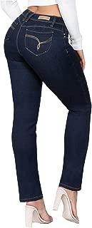YMI Jeanswear Juniors' Wannabettabutt Mid-Rise Straight-Leg Jeans