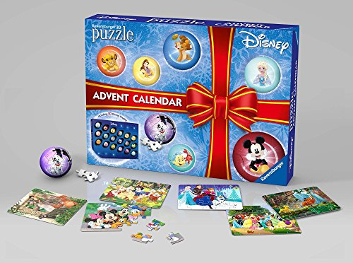Ravensburger Italy- Calendario Dell'Avvento Disney Classic Puzzle 3D, 11676