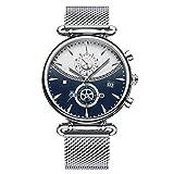 Orologio Da Uomo Cronografo, Orologio Sportivo Militare Moda Orologio Da Uomo In Acciaio Inossidabile 24cm Argent