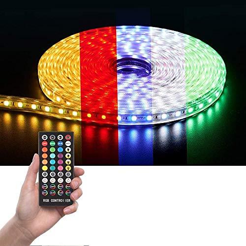 BICCQ Cadena De Luz LED, La Cadena De Luces De Color RGB 5050 Establece La Cadena De Luces De Música Resistente Al Agua WiFi Luces Inteligentes con 5 M