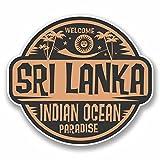 2x 10cm Sri Lanka Sticker en vinyle pour ordinateur portable Voyage bagages étiquette cadeau # 9839 - 10cm Wide x 9cm High