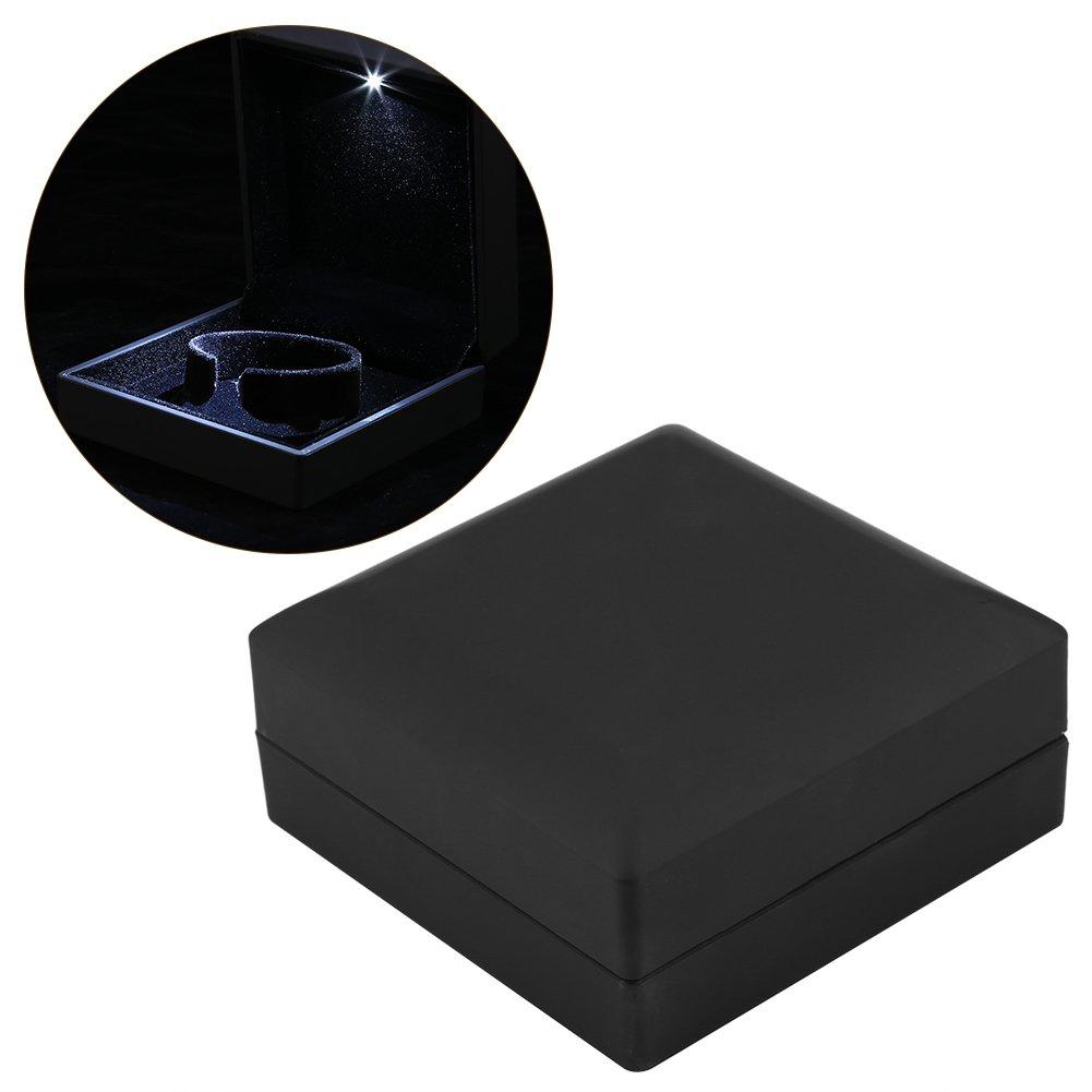 Estuche para anillo/colgante/pulsera/collar con luz LED – Caja de presentación de joyas: Amazon.es: Hogar
