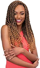 2 Packs of Janet Collection Nala Tress PASSION TWIST Crochet Braid 18 inches Color #1B
