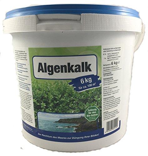 Algenkalk 6kg Buchsbaumretter - Zulässig für den Bio-Anbau - Buchsbaum Kur - Feines Pulver - Gartenkalk als Buchsbaumdünger - Buxus