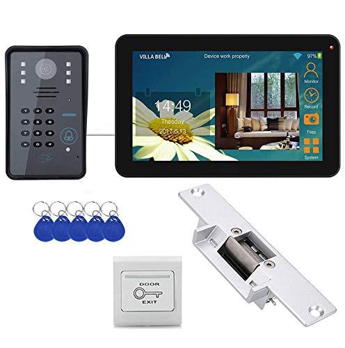 Timbre de video de 9 pulgadas con conexión inalámbrica/por cable a Wifi,...