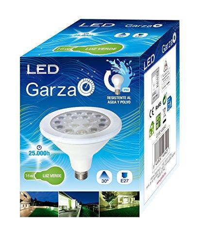 Garza LED-lampen, reflector, groen, E27, 16 W, blauw