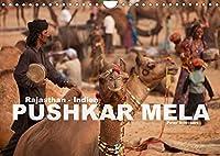 Rajasthan, Indien - Pushkar Mela (Wandkalender 2022 DIN A4 quer): Das grosse lebendige Volksfest im Norden Indiens in einem farbenpraechtigen Kalender (Monatskalender, 14 Seiten )