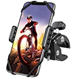 DesertWest Phone Holder for Bike [Asymmetric Clamp] Motorcycle Phone Mount, Universal ATV Mountain & Road Bicycle Handlebar Cradle Fit with iPhone, Samsung and All Phones