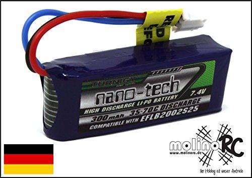 Turnigy nano-tech 300mAh Lipo Akku - 2S 7,4V 35-70C - kompatibel zu E-flite micro EFLB2002S25