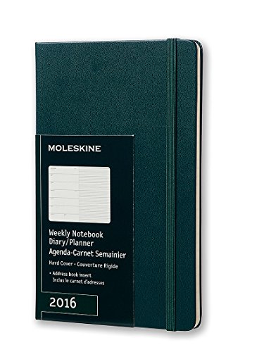 Moleskine 2016 Weekly Notebook, 12M, Large, Tide Green, Hard Cover (5 x 8.25)