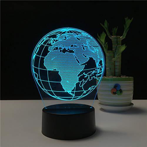 Luz Nocturna 3D Regalo Creativo Novedad Logotipo práctico atenuación táctil Regalo publicitario luz táctil Colorido Globo de luz 3
