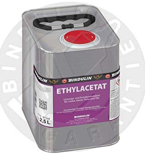 Ethylacetat flüchtiges Reinigungsmittel 2,5 Liter 99,95% rein inkl. 1 elastisches Microfasertuch (2,5 Gramm)