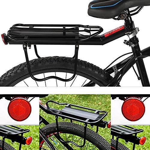 Wakects Aluminiumlegierung Gepäckträger Einstellbare Fahrradgepäckträger, Fahrradträger Racks für Mountainbike und Fahrrad, schwarz, Bearing 10kg