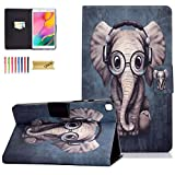 Dteck Case for Samsung Galaxy Tab A 8.0 inch T290, PU Leather Slim Folio Protective Tablet Case with Stand Magnetic Cover for Samsung Galaxy Tab A 8.0 2019 Release Model T290 T295 T297,Music Elephant