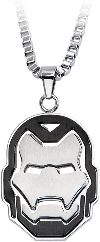 Marvel Avengers Iron Man Stainless Steel Pendant Necklace