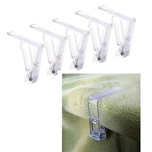Hustar Lot de 12 Pinces pour Nappes Fixe-Nappe en Plastique Transparent pour Maison Mariage et Fete
